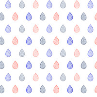 Rose quartz, lilac grey & serenity blue raindrops fabric - savousepate - Spoonflower
