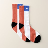 All Over Print Socks with Flag of Chile