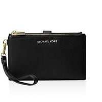 Michael Kors Adele Leather Smartphone Wristlet Black