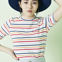 [BLANK] RAINBOW STRIPE T-SHIRT
