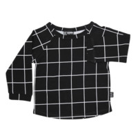Long Sleeve T-Shirt in Black Check