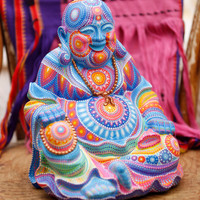 Hand Painted Laughing Buddha Statue