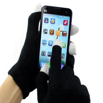 New Brand 2015 Fashion Unisex Magic  Screen Gloves Texting Smartphone iphone Stretch Winter Knit For Women Winter Gloves