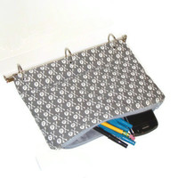 Binder Pencil Case Skull and Crossbones Pencil Pouch for 3 Ring Binder with Zipper  Back to School School Supplies Kids Gift Organizing Case
