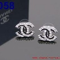 chanel earrings inspired 2cm BLACK AND SILVER