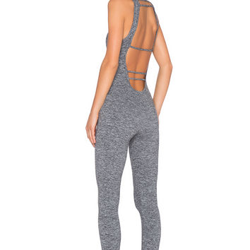 koral activewear Core Jet Jumpsuit in Heather Grey