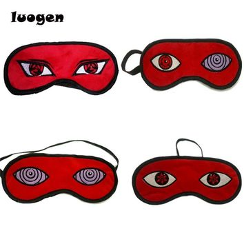 Naruto Sasauke ninja Anime  Cosplay Prop Uchiha Madara Sharingan Light Cover Mask Eye Cover Sleeping Mask Blindfold Goggles Blinder Eye Patch AT_81_8