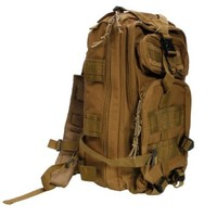 Olymstore(TM) Waterproof 20L Tactical Backpack Rucksack 3P Assault Shoulder Bag Military Pack for Outdoor Camping Hiking Trekking Traveling Climbing (Mud color)