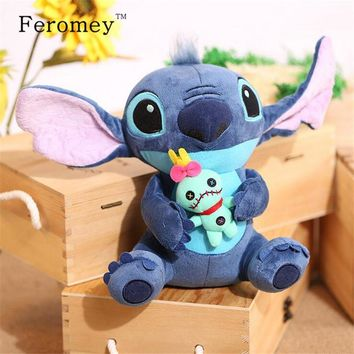Kawaii Stitch Plush Doll Toys Anime Lilo and Stitch 25cm Stich Plush Toys for Children Kids Birthday Gift