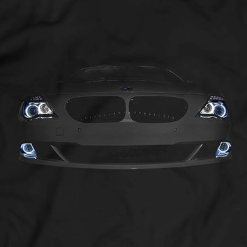 BMW E63/E64 6 Series T-Shirt Women Men Gift Idea Headlights Glow Tuning Black T Shirt Garment Apparel