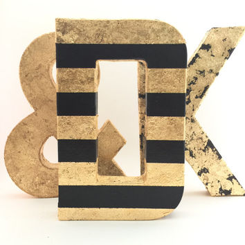 Gold Letters - Gold Leaf - Wedding - Nursery - Baby Shower - Chic - Cute - Decorative - Fun - Glamorous