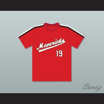 Joe Cox 19 Portland Mavericks Baseball Jersey The Battered Bastards of Baseball