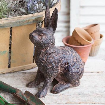 Cast Iron Garden Hare