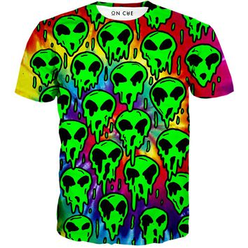 Trippy Green Martian T-Shirt