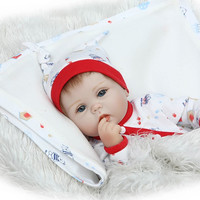 40cm Silicone reborn baby doll , soft vinyl collectible doll