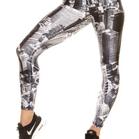 Womens Above NYC Performance Leggings