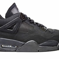 Air Jordan 4 Retro Black Cat Basketball Shoes <>