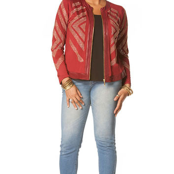 Nicole Plus Size Embellished Blazer for Women