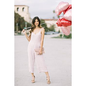 Felicity Tan Striped Jumpsuit
