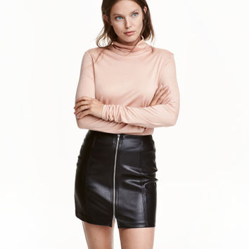 Lyocell Turtleneck Top - from H&M