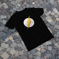 "THE SAMPLE size of the print image on the T-Shirt 10""x10"" Flash Logo"