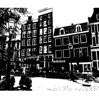 Amsterdam Skyline City Sights Wall Sticker Decal 2459