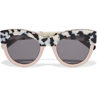 Stella McCartney - Chain-trimmed cat-eye acetate sunglasses