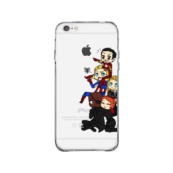 Chibi Avengers iPhone 6 Clear Case