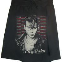 Cry Baby Johnny Depp Photo T-Shirt Skirt