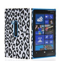 EnGive® Beautiful Nokia Lumia 920 Hard Case Protector Cover +Stylus +EnGive® Cleaning Cloth (leopard design)