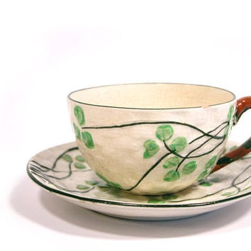 Vintage Clover Cup and Saucer, Made in Japan
