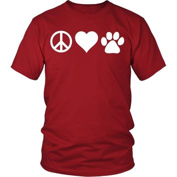 Veterinary T Shirt - Peace Love Paw