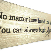 Buddha Quote Wood Sign
