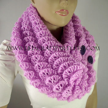 KNITTING PATTERN SCARF - Angel Wings Cowl Chunky Scarf - pdf Pattern