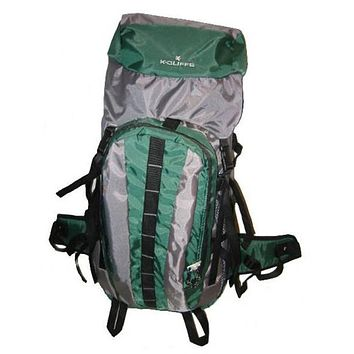 "Hiking Backpack w/Internal Frame, 25.5""x17.5""x6"", Green/Grey - 10 Units"
