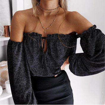 Tops Wrap Autumn Sexy Bra T-shirts [11703773711]