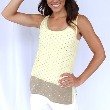 Embellished Colorblock Tank Top