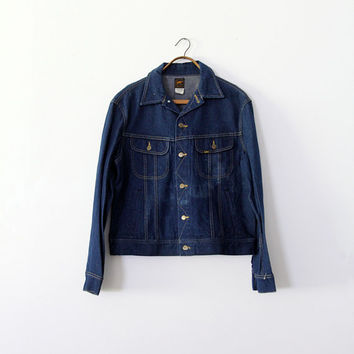 1970s Lee Denim Jacket / Lee Sanforized PATD-153438