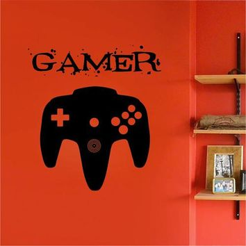 ik2547 Wall Decal Sticker controller console Xbox 360 Game PS4 player bedroom teens