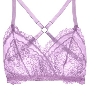 Lacey Easy Fit Bralette - Lilac