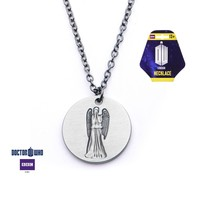 Doctor Who Weeping Angel Don't Blink Necklace