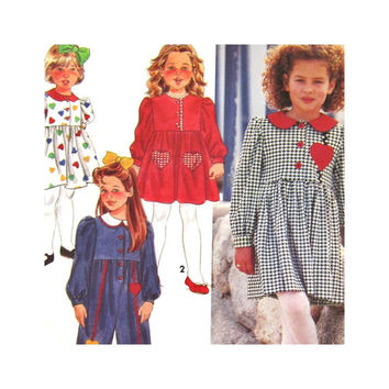 Simplicity 7969 Uncut Pattern  Girls Dress  and Jumpsuit  Size 5 6 6X