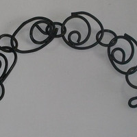 oxidised copper swirl bracelet