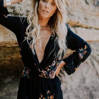 Wildflower Romper - Black