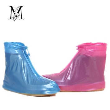 New Women Rain Shoes Flat Ankle Boots Waterproof Cusual Women Shoes Covers Non-slip Shoes Woman Covers Platform Rain Boots #D31