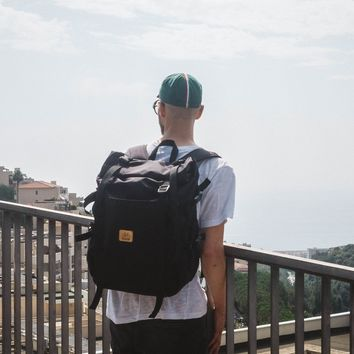 Bonette | Rolltop backpack | Black