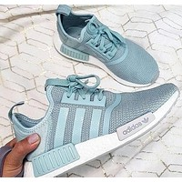 ADIDAS NMD R1 Boost Fashion Sneakers Running Sports Shoes Green