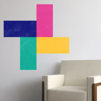 Writable wall decals - Retro Rectangles Chalkboard 2