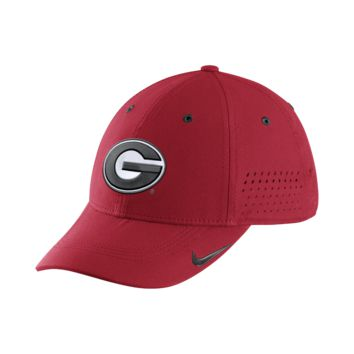 Nike College Sideline Swoosh Flex (Georgia) Fitted Hat Size FLX