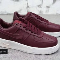 Nike Air Force 1 Unisex Simple Casual Fashion Thick Bottom Low Help Plate Shoes Couple Sneakers